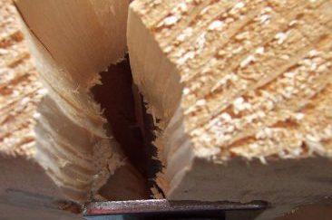 Exportverpackung Kufe gespaltet