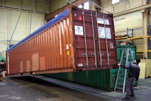 Unzulässiger ausßermittiger Schwerpunkt im Container