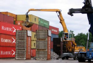 Unerlaubter Containerstau