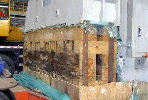 Holz innerhalb der Sperrschicht eines temporären Korrosionsschutzes