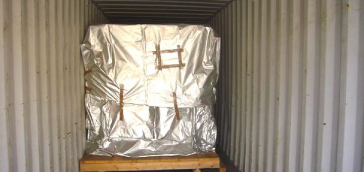 Packstück ohne Sicherung in Container gestellt