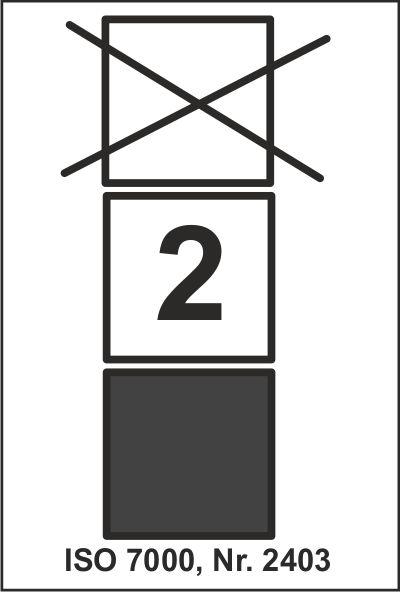 Stapelbegrenzung Symbol Nr. 2403 der ISO 7000