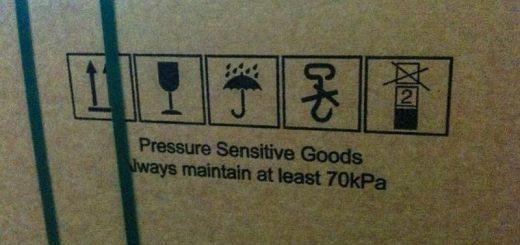 Zweifelhafte Handhabungszeichen